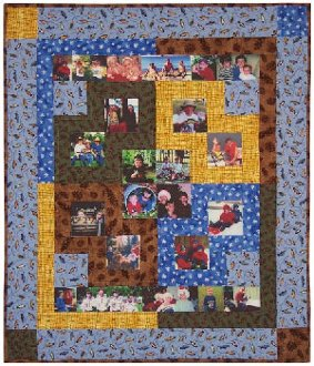 Baby Pictures Quilt Pattern in 2 Sizes by Happy Apple Quilts