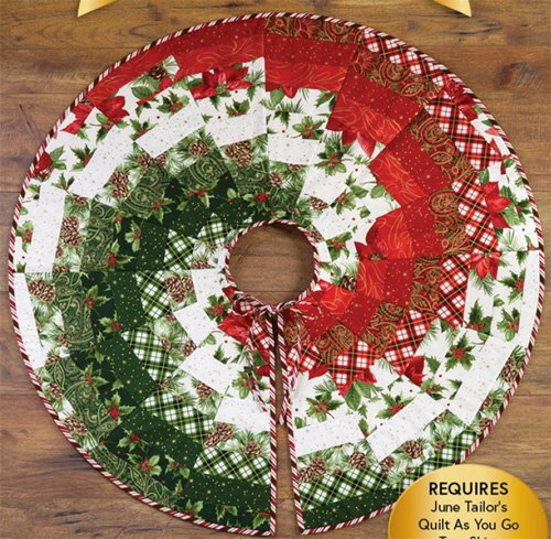 Bargello Christmas Tree Skirt Pattern by Shabby Fabrics