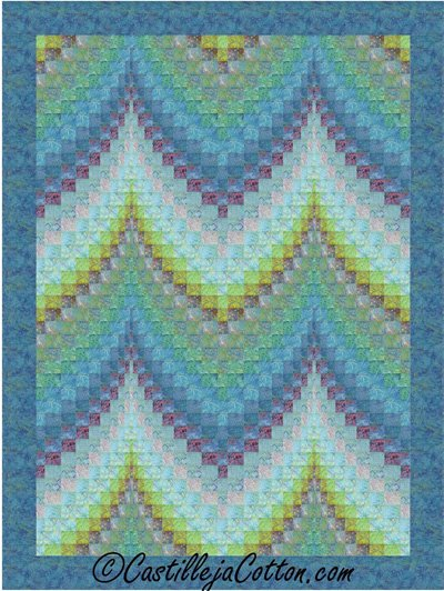 Bargello Ocean Quilt Epattern by Castillaja Cotton