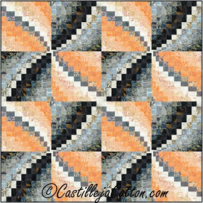 Bargello Pinwheel Quilt EPattern by Castilleja Cotton