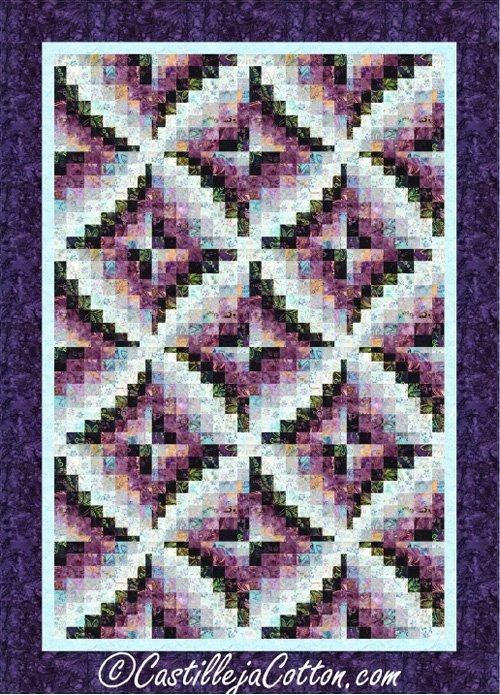 Bargello Windmills Quilt Epattern by Castilleja Cotton
