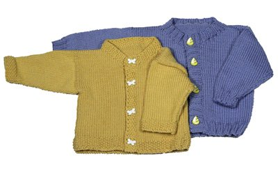 Basic Baby Cardigan Hand Knitted Pattern by Momogus Knits