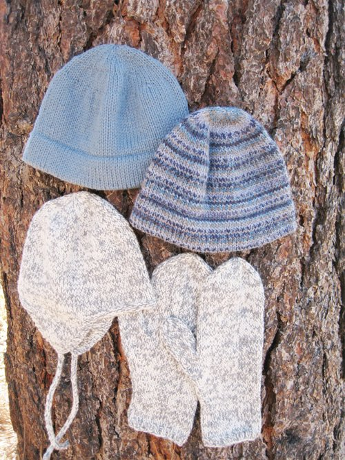 Basic Hat & Mitten Set for Men by Knitting Pure and Simple