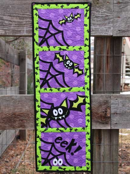Bat Trap Wallhanging Pattern by Whistlepig Creek Productions