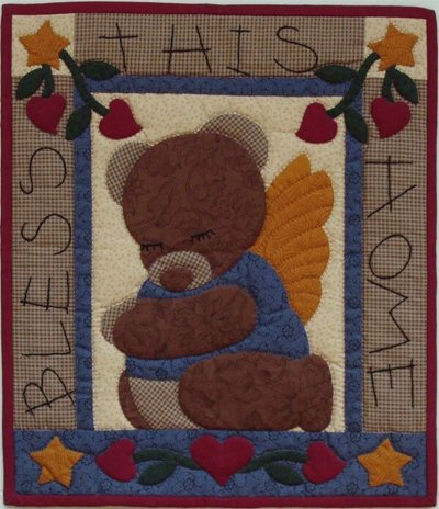 Bear Blessing Wallhanging Pattern by Rachels of Greenfield