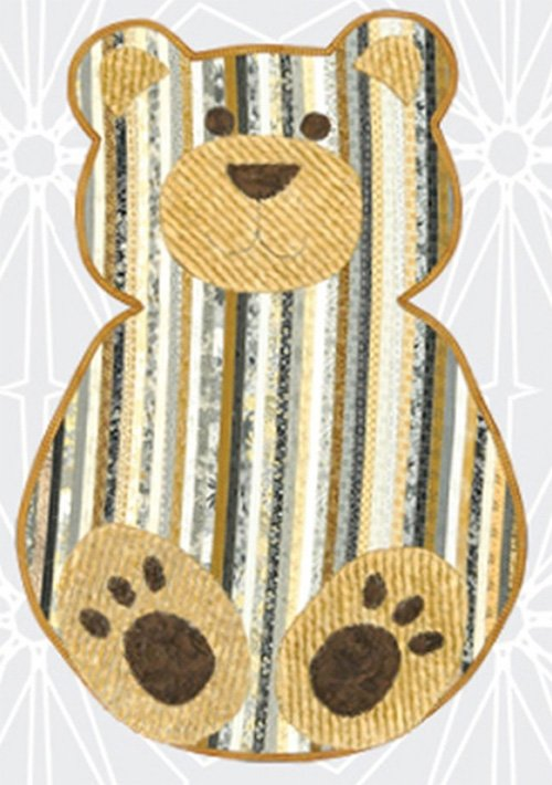 Bear Floor Rug Pattern by Pauline's Quilters World