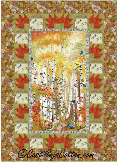 Birds and Birch Quilt Epattern by Castilleja Cotton