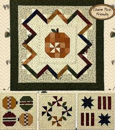 Bittersweet Seasons Charm Quilt Pattern by Kansas Troubles Quilters