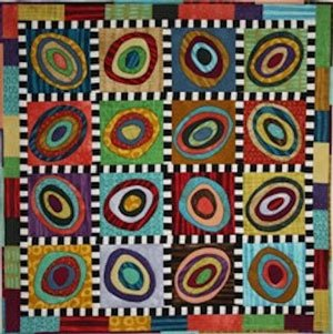 Liberated Circles Wall Quilt Pattern by BJ Designs