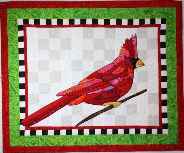 Simply Scarlet Wallhanging Pattern by BJ Designs