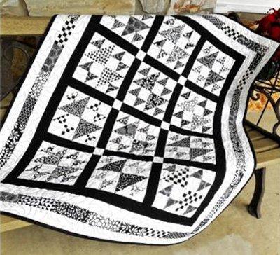Black Tie Affair Quilt Pattern in 4 Sizes by Little Louise Designs