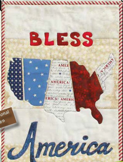 Bless America Wallhanging Epattern by Patchabilities