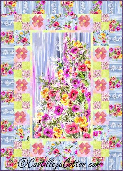 Blossom Quilt Epattern by Castilleja Cotton
