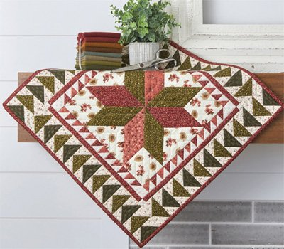 Blossoming Star Quilt Table Top/Wallhanging Pattern by Buttermilk Basin