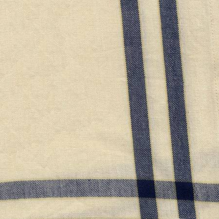 Tea Towel Homespun Blue/Cream With Black Stripe