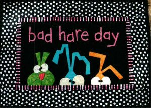 Bad Hare Day Wallhanging Pattern by Bloomin' Minds