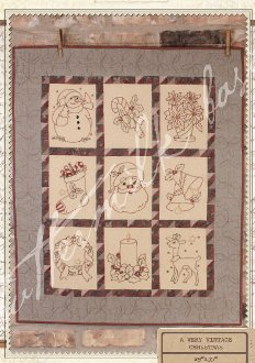 A Very Vintage Christmas Wallhanging Pattern by Buttermilk Basin