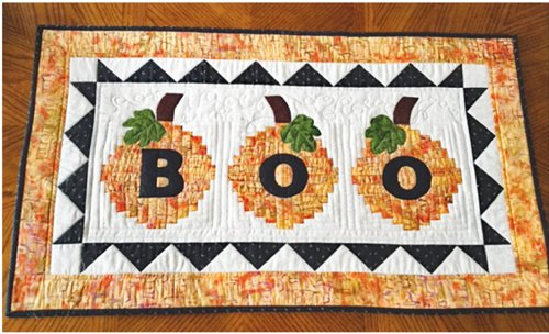 Boo To You Tablerunner Pattern by Cut Loose Press