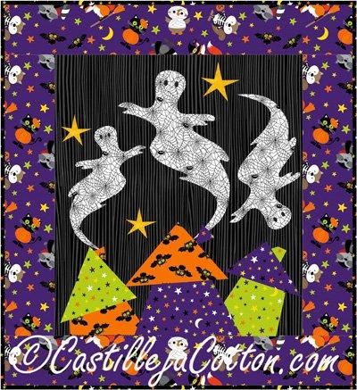 Boo Ville! Quilt Epattern by Castilleja Cotton