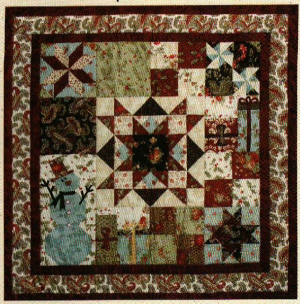 Be Merry Small and Large Holiday Themed Quilts by Bits N Pieces
