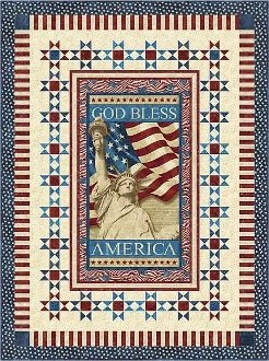 America Wallhanging Pattern by Back Porch Design