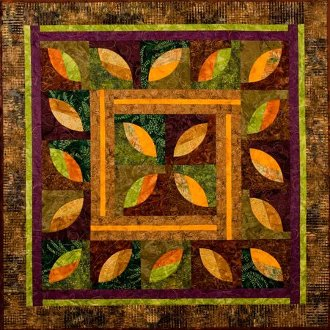 Autumn's Coming Quilt Pattern by Back Porch Designs