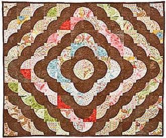 Chocolate Go Round Quilt Pattern by Back Porch Design