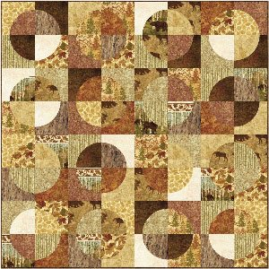 Maple Leaves Fuzzy Flannel Quilt Pattern by Back Porch Designs
