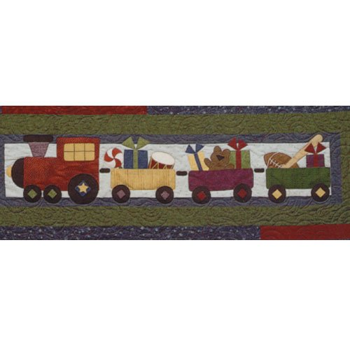 Sugarplum Series Christmas Train Block Pattern by Briarwood Cottage