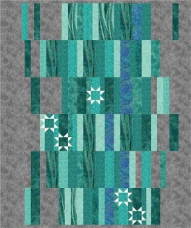 Shimmering Waterfalls Quilt Pattern by Barb Sackel of Rose Cottage Quilting