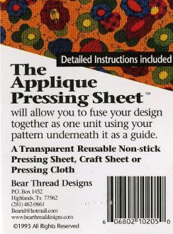 Applique Pressing Sheet by Bear Thread Designs