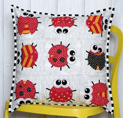 Bug it Cushion Pillow Pattern by Claire Turpin Designs