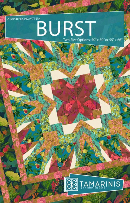 Burst Quilt Pattern in 2 Sizes by Tamarinis