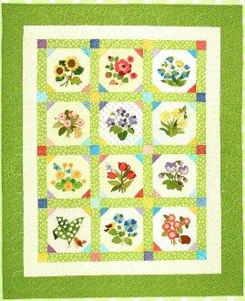 Cottage Garden Quilt Pattern by Brandywine Designs