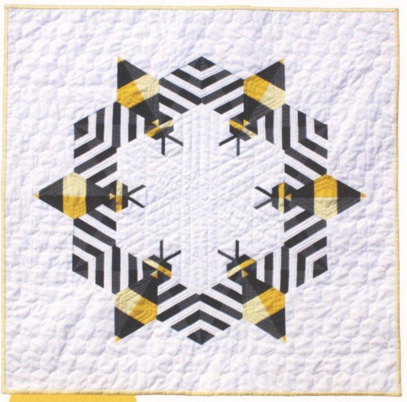 Bzzzzzz Mini Quilt Pattern by Whole Circle Studio