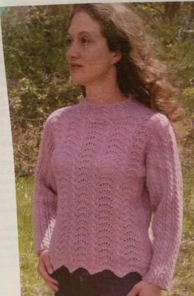 Cables & Scallops Knitted Sweater Pattern by Blue Sky Alpacas