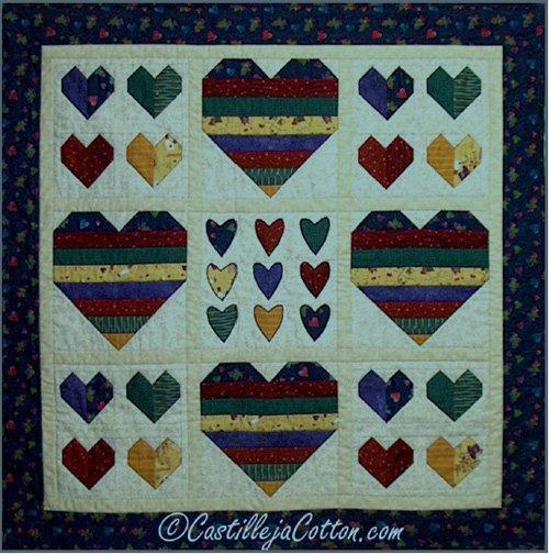 Capricious Hearts Quilt EPattern by Castilleja Cotton