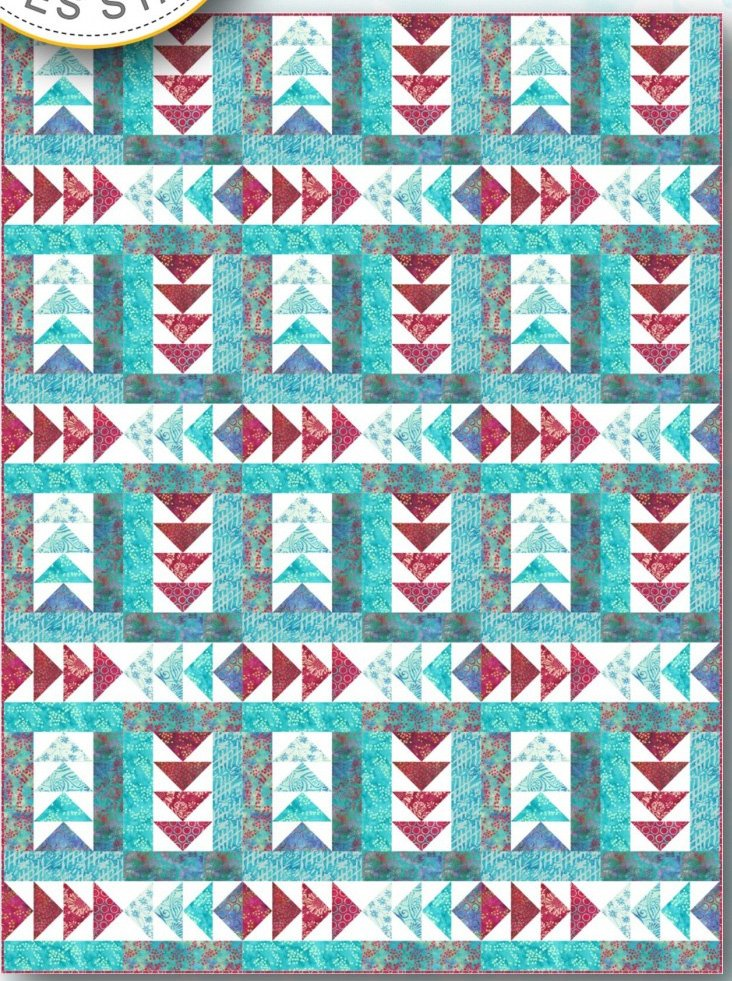 Cardinal Points Quilt Pattern by Needle in a Hayes Stack