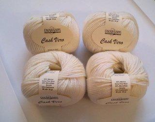 Cash Vero Yarn by Cascade Yarns Color 003 Ecru