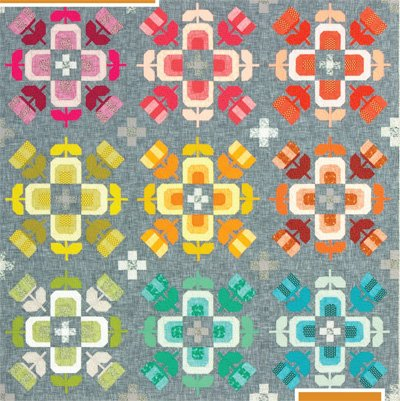 Casserole Quilt Pattern in 2 Sizes by Elizabeth Hartman