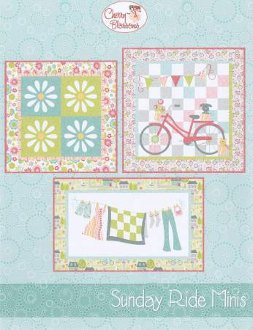 Sunday Ride Minis Set of 3 Wallhanging Patterns by Cherry Blossoms Quilting