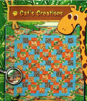 Jungle Spin Quilt Pattern by Cat's Creations