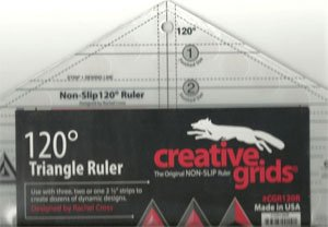120 Degree Triangle Ruler by Creative Grids