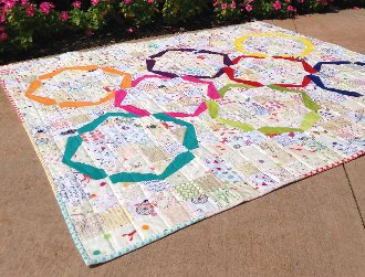 Hula Girl Quilt Pattern by Color Girl Quilts
