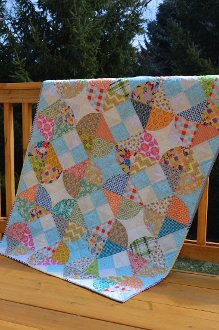 Tipsy Quilt Pattern in 3 Sizes by Color Girl Quilts