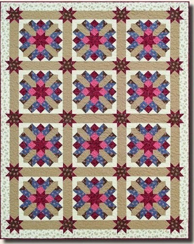 Chateau Quilt Pattern in 3 Sizes by Antler Quilt Designs
