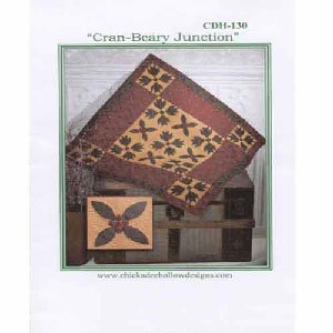 Cran-Beary Junction Wallhanging or Table Topper Pattern by Chickadee Hollow Designs