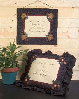 Quilter's Pillow Talk Wallhanging and Pillow Pattern by Chickadee Hollow Designs