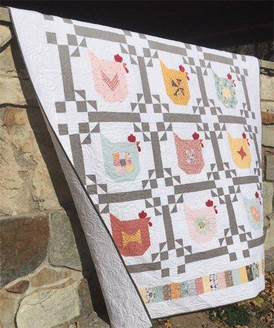 Chicken Scratch Quilt Pattern by Poppie Cotton