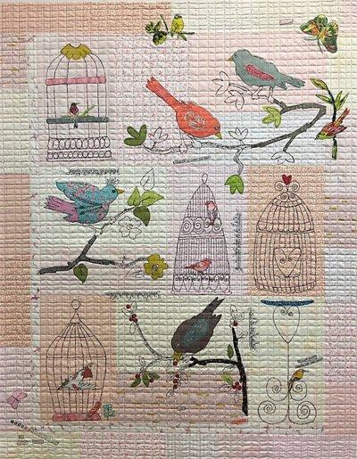 Chirp Chirp Collage Quilt Pattern by Fiberworks Inc